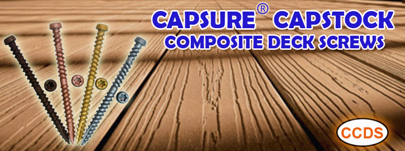 Capsure Capstock Composite Deck Screws